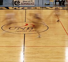 slow shutter basketball players court by Jamie Roach