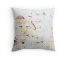 """Life on the Farm - watercolor - 8"""" x 10"""" Throw Pillow"""