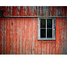 Barn Window Photographic Print