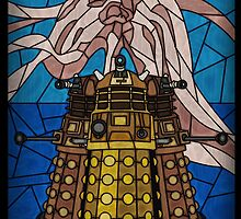 Dalek Stained Glass by UncleFrogface