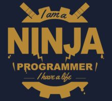 programmer : i'm a ninja programmer - gold by dmcloth