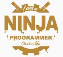 programmer : i'm a ninja programmer - gold One Piece - Short Sleeve