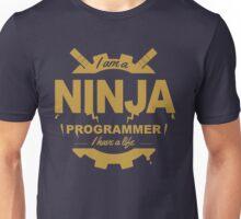 programmer : i'm a ninja programmer - gold Unisex T-Shirt