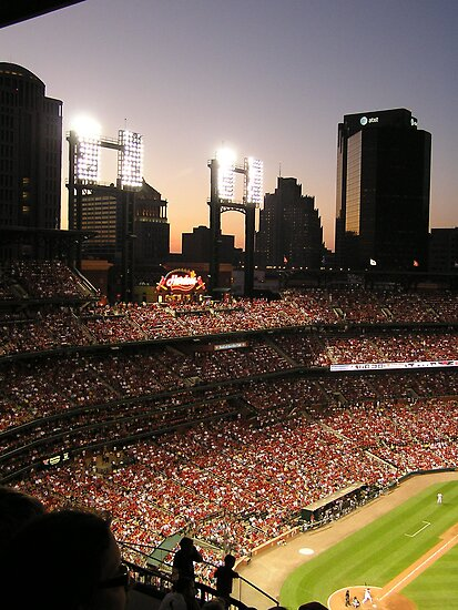 Busch Stadium under lights by Jamaboop