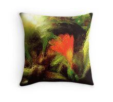 flora through glass... Throw Pillow
