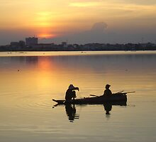 Cambodian sunset by hcd202