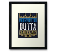 Straight Outta Kauffman (color) Framed Print
