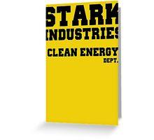 Stark Industries Clean Energy Dept. Greeting Card