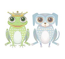 Prince Frog and Lanky Dog by Jean Gregory  Evans