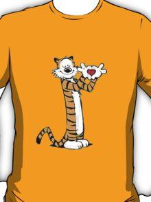 calvin and hobbes love heart T-Shirt