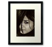 Portrait of Lady - II Framed Print
