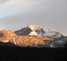 A Long Sunet, Longs Peek Colorado by NatureGreeting Cards ©ccwri