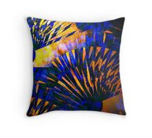 Fans of Blue and Copper Throw Pillow