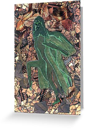 25 - GIRL OF THE AUTUMN - DAVE EDWARDS - COLLAGE, INK & WATERCOLOUR - 1996 by BLYTHART