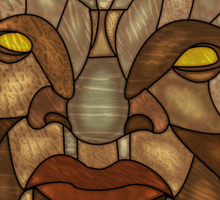 Face of Boe Stained Glass Sticker