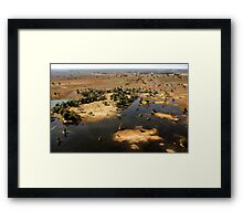 Bird's eye view of the Okavango Delta, Botswana Framed Print