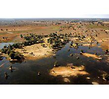 Bird's eye view of the Okavango Delta, Botswana Photographic Print