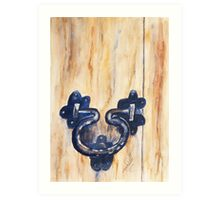 Knock Knock  Who's There ? Art Print
