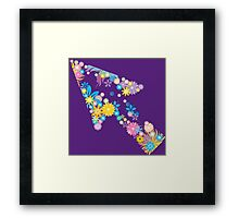 Colorful flower arrow Framed Print