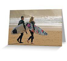 Surfer synchro Greeting Card