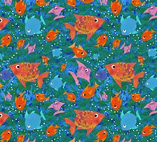 Colorful Fun Fish in the Sea by helikettle