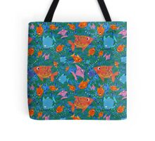 Colorful Fun Fish in the Sea Tote Bag