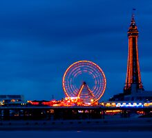 Blackpool - North Pier & Tower by Mike Weeks