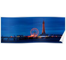 Blackpool - North Pier & Tower Poster