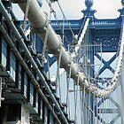 Manhattan Bridge Entrance by joan warburton