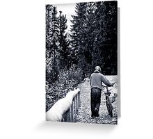 Hiking and biking Greeting Card