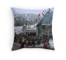 Opening day at Whistler Blackcomb Throw Pillow