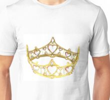 Queen of Hearts gold crown tiara by Kristie Hubler Unisex T-Shirt