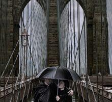 Rainy Day in Brooklyn Sticker
