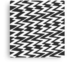 Black and White Funky Zigzag Chevron Canvas Print