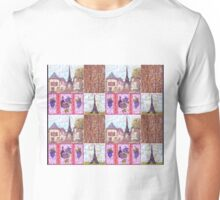 Paris Inspired Pointillism Grapes Wine Wood by Kristie Hubler Unisex T-Shirt