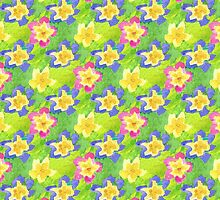 Pretty Spring Primroses Pattern by helikettle