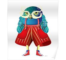 My Owl Red Pants Poster