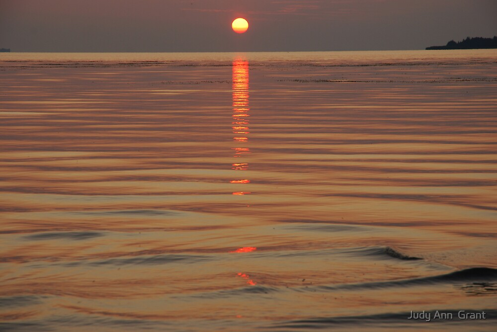 Sundown Slave Lake  by Judy Grant