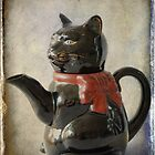Black Cat Teapot by Colleen Drew