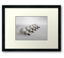 Bulbs low Framed Print