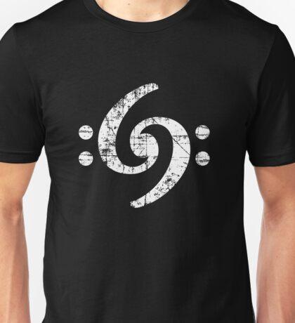 Double Bass Clef 69 Vintage White Unisex T-Shirt