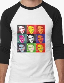 faces of Elvis Men's Baseball ¾ T-Shirt