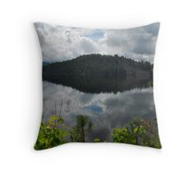 The Point of Ponderosa State Park Reflected in Payette Lake, Idaho Throw Pillow