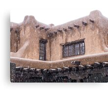 Adobe and snow Canvas Print