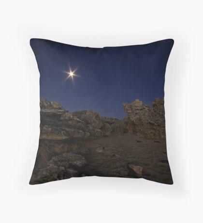 rocky night Throw Pillow