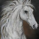 White Horse &quot;Higher Mind&quot;   by JeffeeArt4u