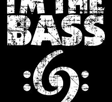 I'm the Bass Clef 69 Vintage White by theshirtshops
