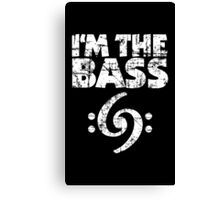 I'm the Bass Clef 69 Vintage White Canvas Print