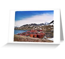 Red Town Greeting Card