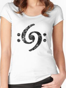 Bass Clef 69 Vintage Black Women's Fitted Scoop T-Shirt
